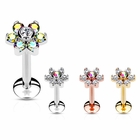 Gem Flower Stud for Monroe, Cartilage Helix, Tragus Stud Earring