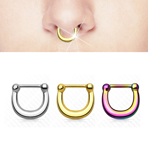 Horseshoe Clicker Septum Cartilage Daith Earring