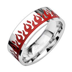 Hot Flame 316L Stainless Steel Ring