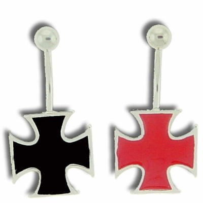 Iron Cross Belly Button Ring