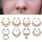 (DISCONTINUED) Jeweled Rose Gold Fake Septum Ring