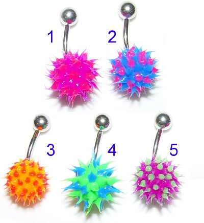 Koosh Ball Belly Button Ring