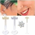 14K Flower Bioplast Stud for Cartilage / Monroe / Tragus / Helix Earring