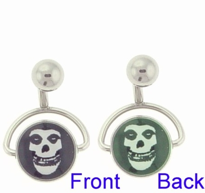 Misfits Belly Button Ring Spinning Double Sided Belly Button Ring