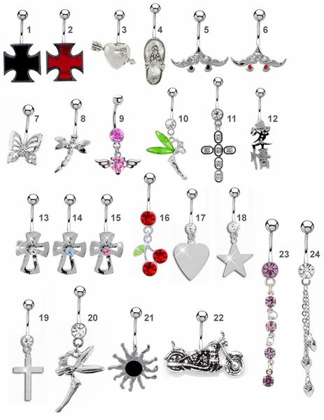 Mix & Match Fancy Belly Button Ring