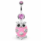 Pink Owl Belly Button Ring (OUT OF STOCK)