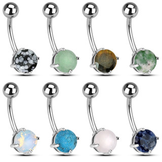 Natural Stone Belly Button Ring