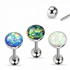 316L Opal Stone Tongue Ring Barbell