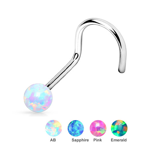 2mm 2 x High Quality 925 Sterling Silver Ball Nose Studs Body Piercing Jewelry