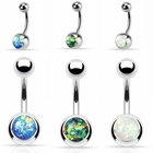 Opal Press-Fit Belly Button Ring