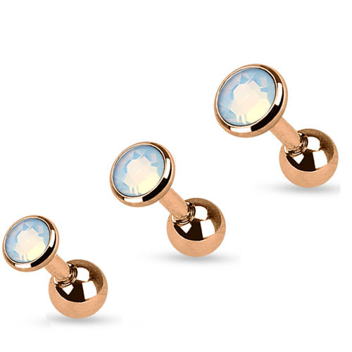 Opalite Rose Gold Tragus Stud Earring Hover To Zoom