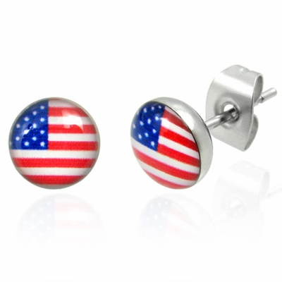 Patriot 316L Stainless Steel Earring