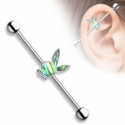 Playboy Abalone 316L Surgical Steel Industrial Barbell