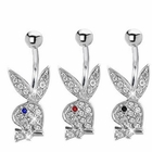 Playboy Jeweled Pave Belly Button Ring