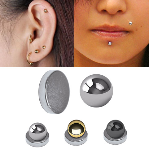 Magnetic Fake Cartilage Labret Ball For Ear Chin Lip Monroe Nose