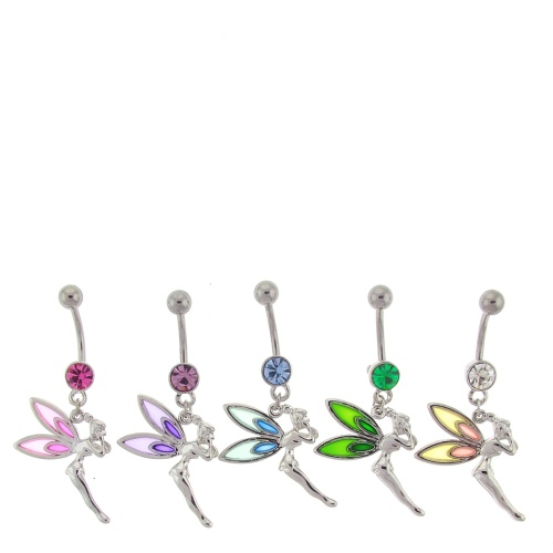 Stained Glass Tinkerbell Belly Button Ring