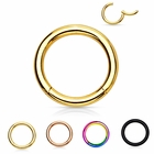 316LVM Surgical Steel Anodized Seamless Clicker Ring