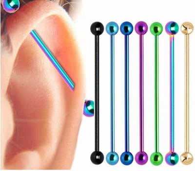 Titanium Anodized Industrial Barbell