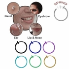 Titanium Fake Spring Hoop (Nose, Ear, Lips, Eyebrow)