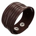 Trendy Celeb Choco Leather Cuff - Eternity
