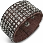 Trendy Celeb Studded Italian Leather Cuff