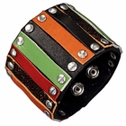 Trendy Celeb Colorful Roman Leather Cuff