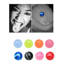 UV Fake Tongue Ring Barbell (Mix and Match)
