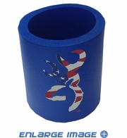 12 oz Can Insulator - Browning Arms Company - American US Flag - Blue Foam