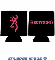 12oz Can Insulator - Browning Arms Company - Pink Buckmark - Black