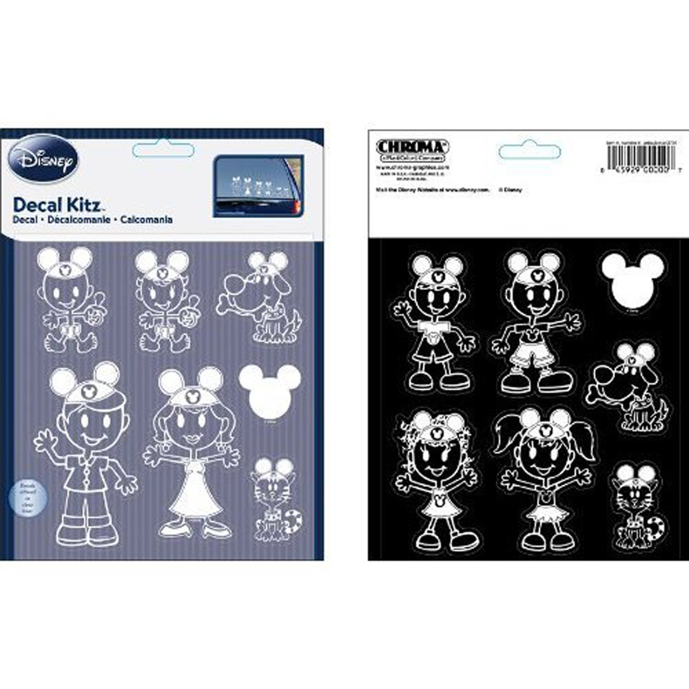 Decal Sticker Kit Car Truck SUV Pc Disney Mickey Mouse - Family car sticker decalsdc comics licensed family car stickers and window decals family