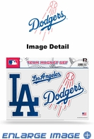 3PC Magnet Set - Bling - Office Home Car Fridge - Los Angeles Dodgers