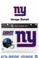 3PC Magnet Set - Bling - Office Home Car Fridge - New York Giants