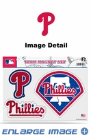 3PC Magnet Set - Bling - Office Home Car Fridge - Philadelphia Phillies