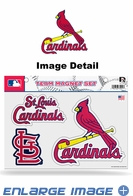 3PC Magnet Set - Bling - Office Home Car Fridge - St. Louis Cardinals