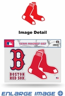 3PC Magnet Set - Office Home Car Fridge - Boston Red Sox
