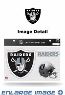 3PC Magnet Set - Office Home Car Fridge - Oakland Raiders