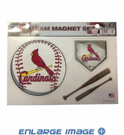 3PC Magnet Set - Office Home Car Fridge - St. Louis Cardinals