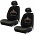 Front Car Truck SUV Low Back Bucket Seat Covers - Crystal Studded Rhinestone Bling - Pink Princess w/ Cute Crown - Pair