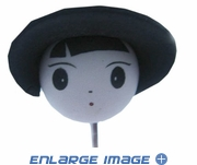 Antenna Topper - Car Truck SUV Pen Pencil - Smiley Face - Smiley Face - Cartoon Character with Black Hat