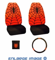 Auto Accessories Interior Combo Kit Gift Set - 4pc - Marvel Comics - Spider-Man