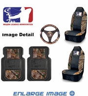Auto Accessories Interior Combo Kit Gift Set - 5pc - Camouflage - Major League Bowhunter