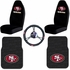 Auto Accessories Interior Combo Kit Gift Set - 5pc - NFL - San Francisco 49ers