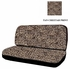 Rear Car Truck SUV Bench Seat Cover - Animal Print - Beige Tan Cheetah