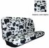 Rear Car Truck SUV Bench Seat Cover - Animal Print - White Cow