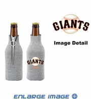 Bottle Cooler Koozie - Glitter Style - San Francisco Giants
