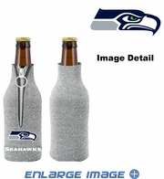 Bottle Cooler Koozie - Glitter Style - Seattle Seahawks