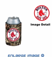 Can Cooler Koozie - Camo Style - Boston Red Sox