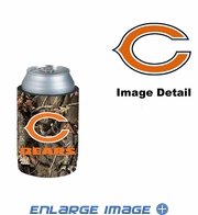 Can Cooler Koozie - Camo Style - Chicago Bears