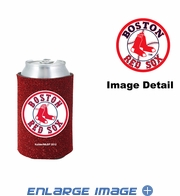 Can Cooler Koozie - Glitter Style - Boston Red Sox