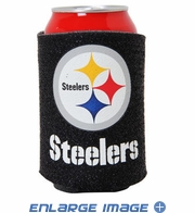 Can Cooler Koozie - Glitter Style - Pittsburgh Steelers